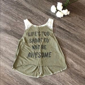 """Life's too short to not be awesome"" tank top"